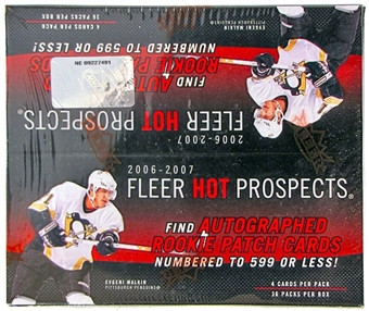 2006/07 Upper Deck Fleer Hot Prospects Hockey 36 Pack Box