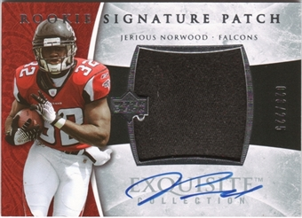 2006 Exquisite Collection #118 Jerious Norwood 23/225 Rookie Patch Autograph