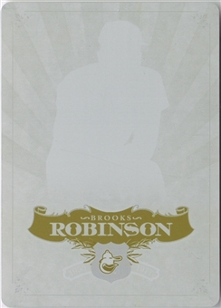 2006 Upper Deck SP Legendary Cuts Printing Plates Yellow #19 Brooks Robinson 1/1