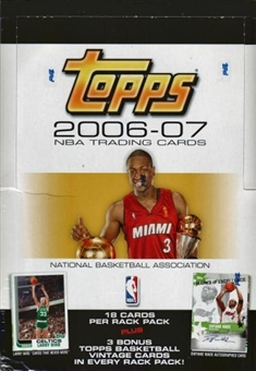 2006/07 Topps Basketball Rack Box
