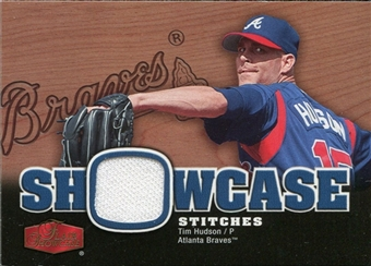 2006 Flair Showcase Showcase Stitches Jersey #HU Tim Hudson