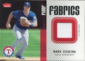 2006 Fleer Fabrics #MT Mark Teixeira Jersey
