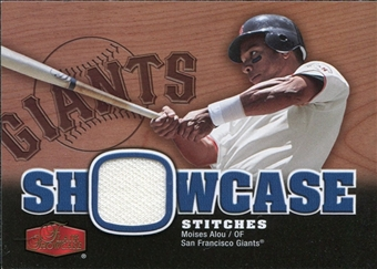 2006 Flair Showcase Stitches #MA Moises Alou Jsy