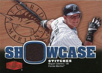 2006 Flair Showcase Stitches #MC Miguel Cabrera Jersey