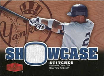2006 Flair Showcase Stitches #RC Robinson Cano Jersey