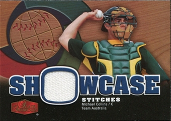 2006 Flair Showcase Showcase Stitches Jersey #CO Michael Collins