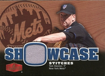 2006 Flair Showcase Showcase Stitches Jersey #TG Tom Glavine