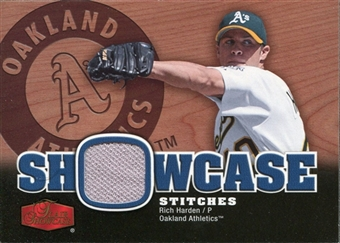 2006 Flair Showcase Showcase Stitches Jersey #RI Rich Harden