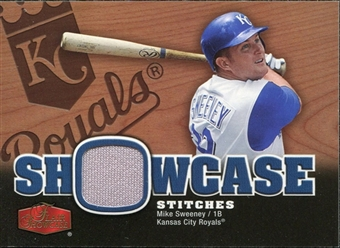 2006 Flair Showcase Showcase Stitches Jersey #SW Mike Sweeney