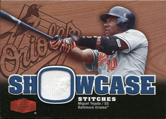 2006 Flair Showcase Showcase Stitches Jersey #TE Miguel Tejada