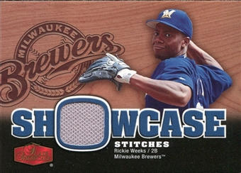 2006 Flair Showcase Showcase Stitches Jersey #RW Rickie Weeks