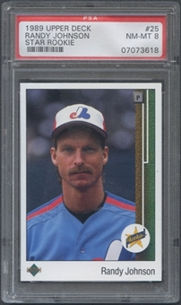 1989 Upper Deck Baseball #25 Randy Johnson Rookie PSA 8 (NM-MT) *3618