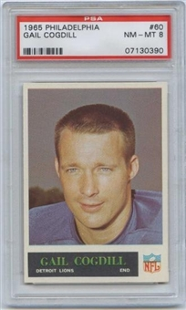 1965 Philadelphia Football #60 Gail Cogdill PSA 8 (NM-MT) *0390