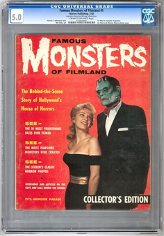 Famous Monsters of Filmland #1 CGC 5.0 (C-OW) *0718500001*
