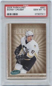 2005/06 Parkhurst #657 Sidney Crosby RC Rookie Card PSA 10 Gem Mint