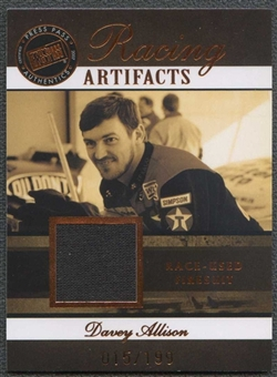 2007 Press Pass Legends Racing Artifacts Firesuit Bronze #DAAF Davey Allison 15/199