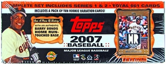 2007 Topps Factory Set Baseball HTA with Free Barry Bonds Relic