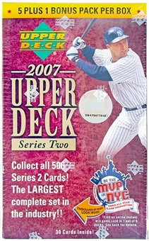 2007 Upper Deck Series 2 Baseball Blaster 6 Pack Box