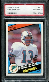 1984 Topps Football #123 Dan Marino Rookie PSA 8 (NM-MT) *3394
