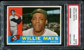 1960 Topps Baseball #200 Willie Mays PSA 8 (NM-MT) *3395