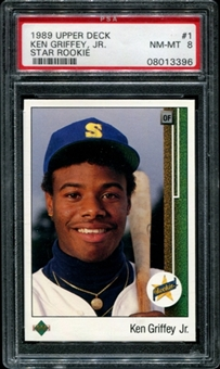 1989 Upper Deck Baseball #1 Ken Griffey Jr. Rookie PSA 8 (NM-MT) *3396