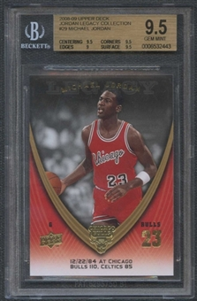 2008/09 Upper Deck Michael Jordan Legacy Collection #29 Michael Jordan BGS 9.5 Gem Mint