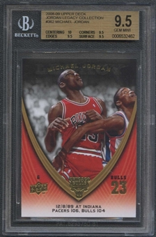 2008/09 Upper Deck Michael Jordan Legacy Collection #362 Michael Jordan BGS 9.5 Gem Mint
