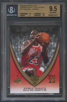 2008/09 Upper Deck Michael Jordan Legacy Collection #757 Michael Jordan BGS 9.5 Gem Mint