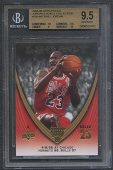 2008/09 Upper Deck Michael Jordan Legacy Collection #759 Michael Jordan BGS 9.5 Gem Mint