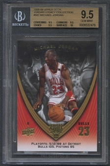 2008/09 Upper Deck Michael Jordan Legacy Collection #947 Michael Jordan BGS 9.5 Gem Mint