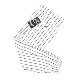 Rawlings Baseball Pants - White/Black Pinstripe (Adult XXL)