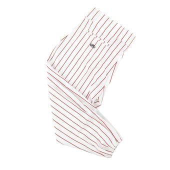 Rawlings Baseball Pants - White/Red Pinstripes (Adult XXL)
