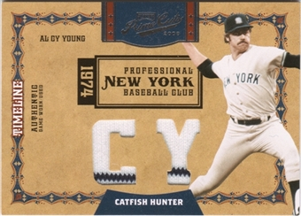 2008 Playoff Prime Cuts Timeline Materials CY HR #48 Catfish Hunter 4/5