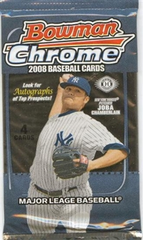 2008 Bowman Chrome Baseball Hobby Pack