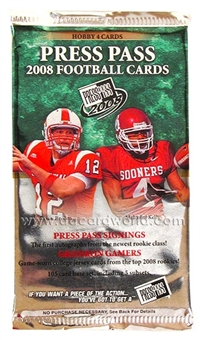 2008 Press Pass Football Hobby Pack
