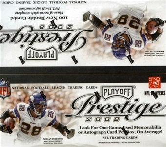 2008 Playoff Prestige Football 24-Pack Retail Box