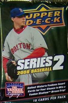 2008 Upper Deck Series 2 Baseball Retail Pack