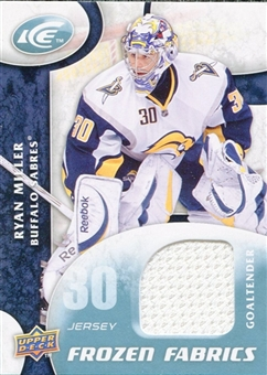 2009/10 Upper Deck Ice Frozen Fabrics White #FRRM Ryan Miller