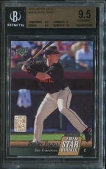 2010 Upper Deck #28 Buster Posey RC Rookie Card BGS 9.5 Gem Mint