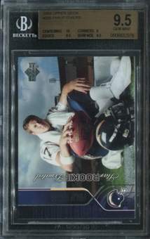 2004 Upper Deck #205 Phillip Rivers Rookie Card RC BGS 9.5 Gem Mint