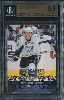2008/09 Upper Deck #245 Steven Stamkos Young Guns Rookie Card RC BGS 9.5 Gem