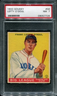 1933 Goudey Baseball #58 Lefty O'Doul PSA 7 (NM) *7728