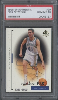 1998/99 SP Authentic #99 Dirk Nowitzki Rookie PSA 10 (GEM MINT) *5187