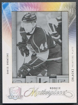 2009/10 The Cup Printing Plates Upper Deck SPx Black Davis Drewiske 1/1