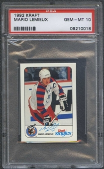 1992/93 Kraft Hockey Mario Lemieux PSA 10 (GEM MT) *0018