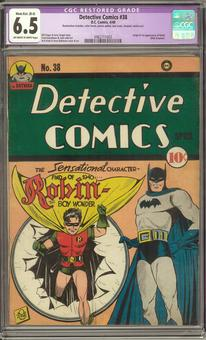Detective Comics #38 CGC 6.5 Moderate/Extensive (B-4) Restoration (OW-W) *0962711003*