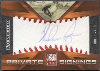 2009 Donruss Elite Extra Edition Private Signings #17 Nolan Ryan 8/10