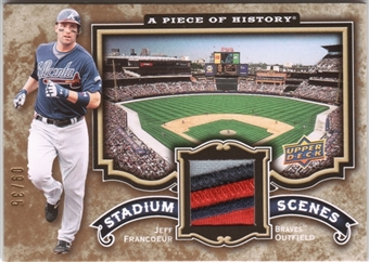 2009 UD A Piece of History Stadium Scenes Patch #SSJF Jeff Francoeur 9/35