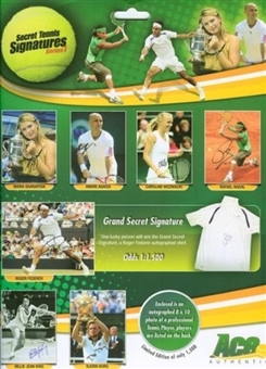 2009 Ace Authentic Secret Tennis Signatures Series 1 Hobby Box