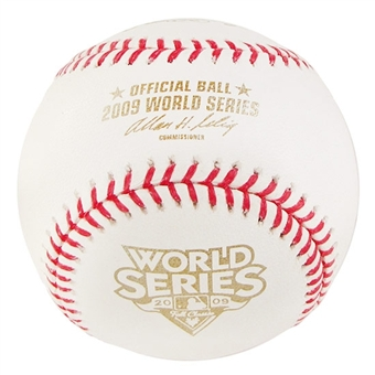 Rawlings 2009 World Series Commemorative Official Baseball (Slightly Stained)